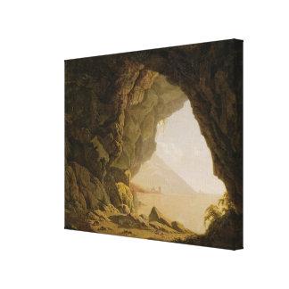 Cavern, Near Naples, 1774 (oil on canvas) Canvas Print