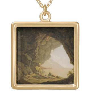 Cavern, Near Naples, 1774 (oil on canvas) Gold Plated Necklace