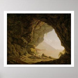Cavern, Near Naples, 1774 (oil on canvas) Poster