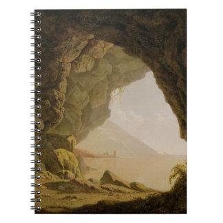 Caverna, cerca de Nápoles, 1774 (aceite en lona) Libreta Espiral