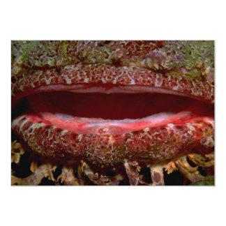 Cavernous maw of a scorpion fish 5x7 paper invitation card
