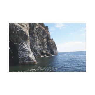 Caves overlooking the Pacific Ocean Stretched Canvas Prints