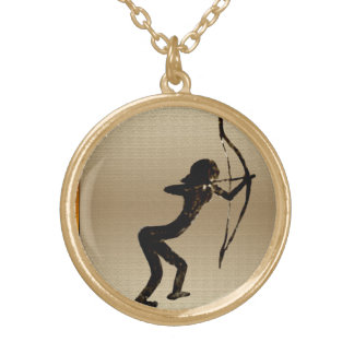 Cavewoman Archer Gold Plated Necklace