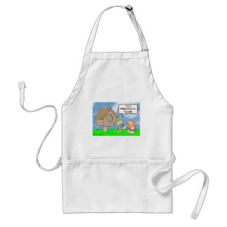 Cavewoman builds pterodactyl house adult apron