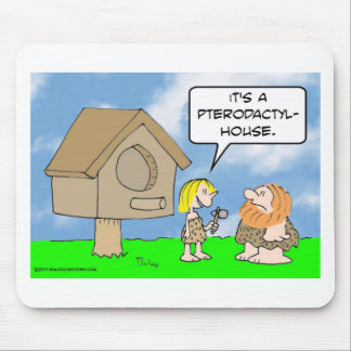 Cavewoman builds pterodactyl house mouse pad