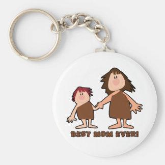 """Cavewoman Mom"" Best Mom Ever Basic Round Button Keychain"