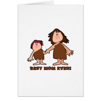 """Cavewoman Mom"" Best Mom Ever Card"