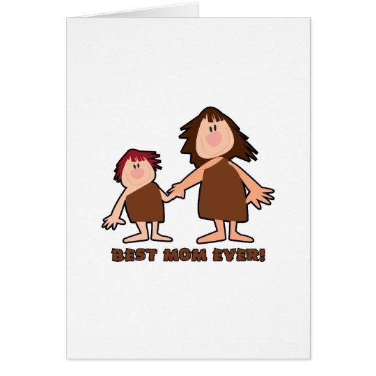 """Cavewoman Mom"" Best Mom Ever Card"