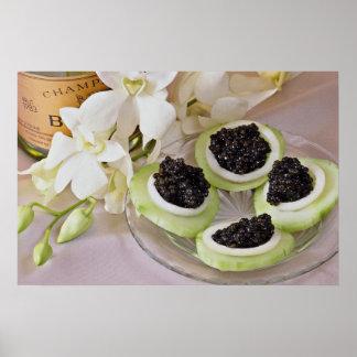 Caviar  flowers poster