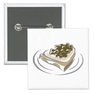 Caviar on toast pinback button
