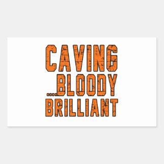 Caving.Bloody Brilliant Rectangular Sticker