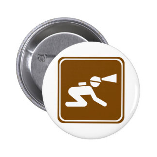 Caving Highway Sign Button