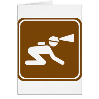 Caving Highway Sign Card