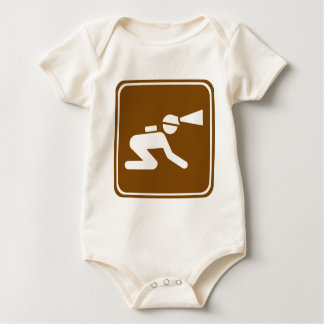 Caving Highway Sign Bodysuits