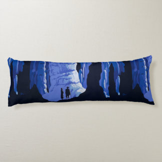 Caving Travel Cavern Vintage Travel Poster Body Pillow