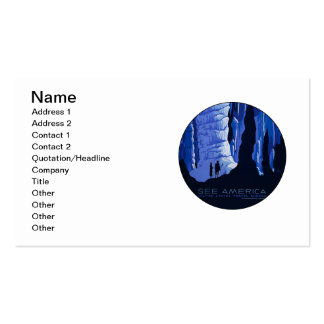 Caving Travel Cavern Vintage Travel Poster Double-Sided Standard Business Cards (Pack Of 100)