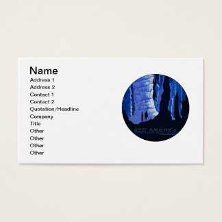 Caving Travel Cavern Vintage Travel Poster Business Card