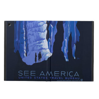 Caving Travel Cavern Vintage Travel Poster Case For iPad Air