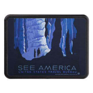 Caving Travel Cavern Vintage Travel Poster Tow Hitch Covers