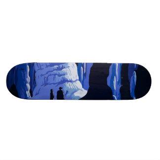 Caving Travel Cavern Vintage Travel Poster Skateboard Deck