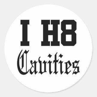 cavities classic round sticker