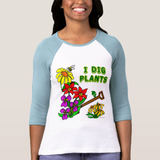 Cavo al jardinero lindo de las plantas que dice la camiseta