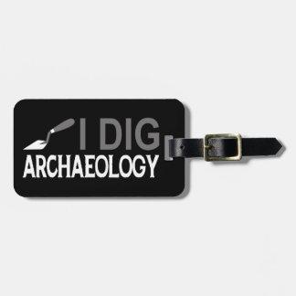 Cavo arqueología etiqueta de equipaje