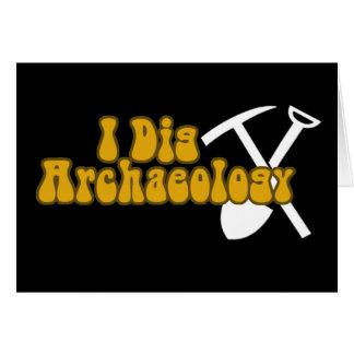 Cavo arqueología tarjeta de felicitación
