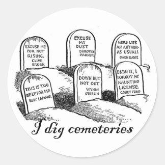 Cavo cementerios pegatina redonda