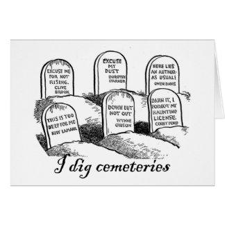 Cavo cementerios tarjeta de felicitación