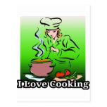 Cavo cocinar cocinar caliente postal