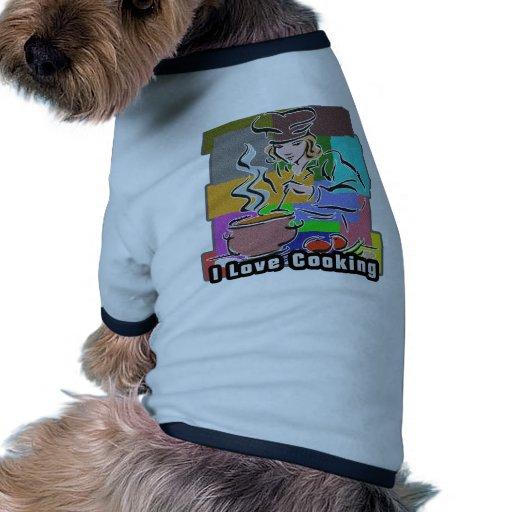 Cavo cocinar la ebullición y aso camisetas de perro