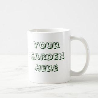 Cavo decir del jardinero de las plantas taza