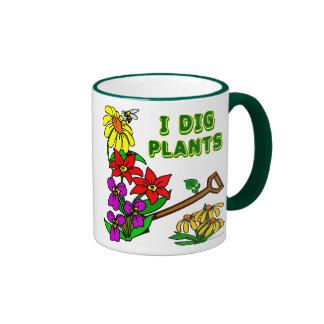 Cavo decir del jardinero de las plantas tazas de café