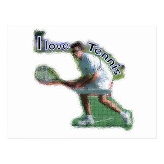 Cavo dobles del tenis tarjeta postal