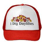 Cavo el casquillo de los Daylilies Gorros Bordados