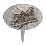 Cavo el cráneo del Triceratops de los dinosaurios Decoración De Tarta