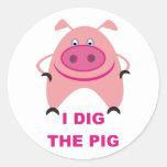 Cavo la hoja del pegatina del cerdo