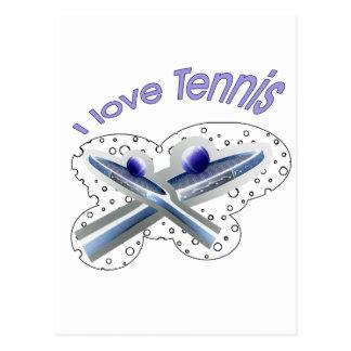 Cavo la línea de fondo del tenis tarjetas postales