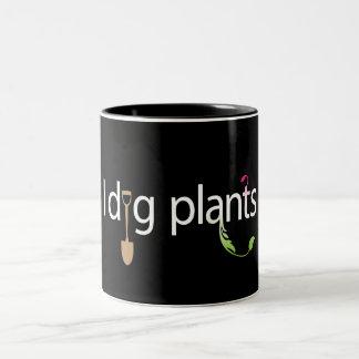 Cavo las plantas taza de café de dos colores