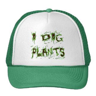 Cavo lema del jardinero de las plantas gorros bordados