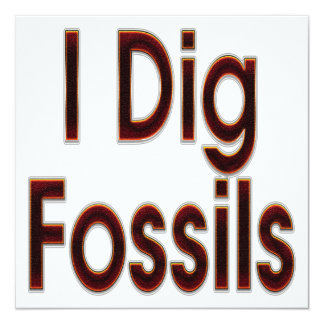 """Cavo los fósiles rojos invitación 5.25"""" x 5.25"""""""