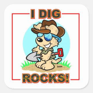 ¡Cavo rocas Pegatina cuadrado