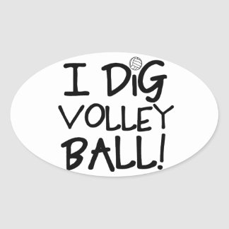 Cavo voleibol pegatina ovalada