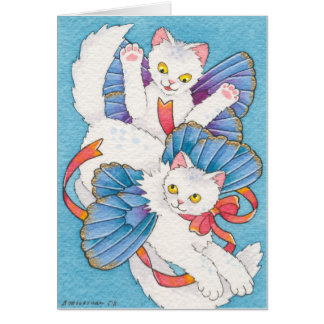 Cavorting Catterflies Stationery Note Card