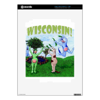 Cavorting Wisconsin Cows Decals For iPad 2