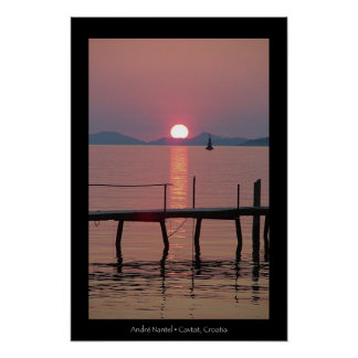 Cavtat Sunset Poster