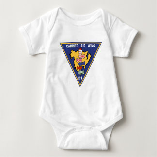 CAW-21 Carrier Air Wing Patch Navy Insignia Milita Baby Bodysuit