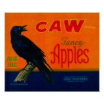 Caw Apple Crate LabelMedford, OR Poster