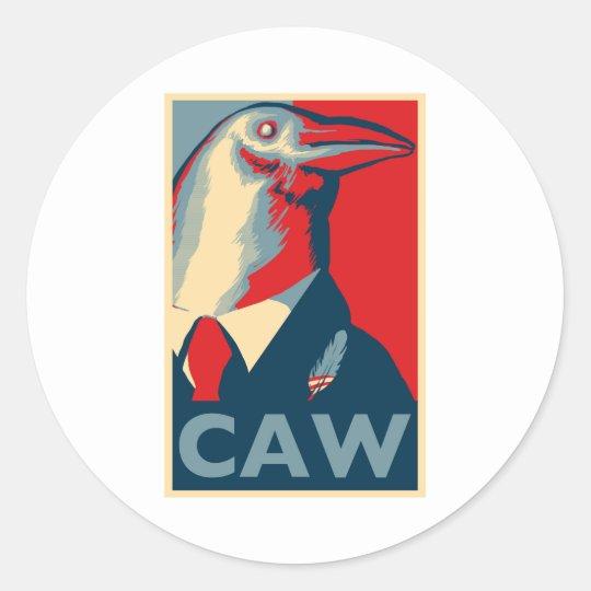 Caw Classic Round Sticker